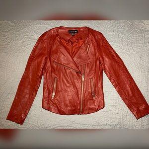 Medium Red Pleather Jacket